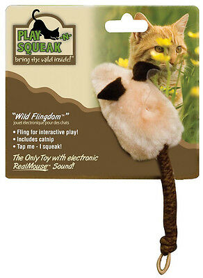 Ourpets Play N Squeak Wild Flingdom With Sound Kitten Cat Toy Free Ship To Usa