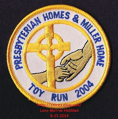 LMH PATCH Badge  2004 PRESBYTERIAN MILLER HOMES TOY RUN  Family Services Bikers