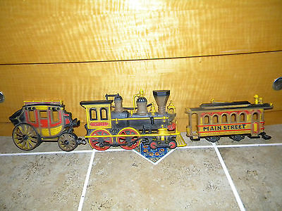 VINTAGE TRANSPORTATION SERIES TRAIN STAGECOACH TROLLY 1975 HOMCO