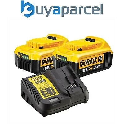 Dewalt DCB182 2 x 4.0ah 18v XR Lithium Ion Li-Ion Batteries with DCB105 Charger