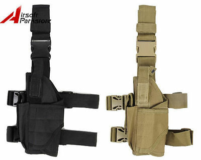 Tactical Military Airsoft Pistol Gun Drop Leg Thigh Holster Pouch Bag Left Hand