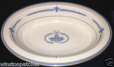 "Lamberton China Puritan Oval Vegetable Bowl 10"" Yellow Blue Laurel"