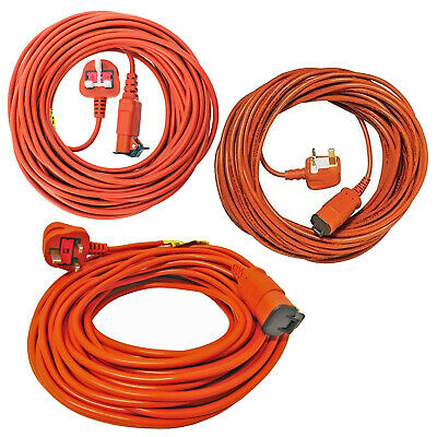 FLYMO 15 20 25 30 Metre Lawnmower Hedge Trimmer Mains Power Cable Lead Flex Plug