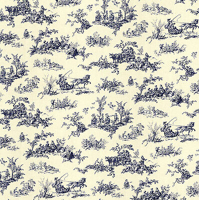 Dolls House Wallpaper 1/12th 1/24th scale Blue Toile Quality Paper #265