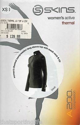 Skins A200 Compression Active Thermals Womens Long Sleeve Top Black