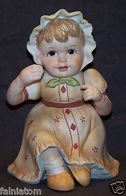 """Vintage ROYAL CROWN  Little Girl Toddler Baby Figurine 6"""" Tall"""