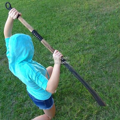 "Huge 53"" Long Hand Forged Pu Dao Pudao Sword Sharp Carbon Steel Blade #097"