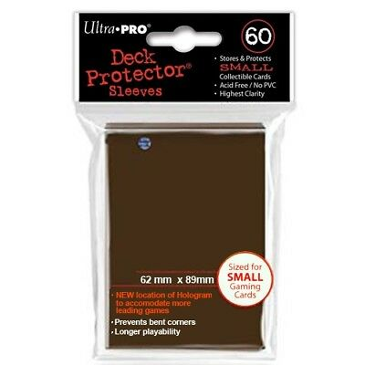 Ultra Pro 60 Small Size Brown Deck Protector Sleeves Fit Yugioh 84028