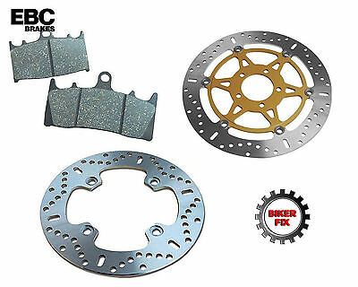 SUZUKI XF 650 V/W/X/Y Freewind 97-02 REAR BRAKE DISC ROTOR & PADS