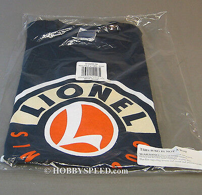 LIONEL SINCE 1900 LOGO ADULT T-SHIRT train accessory NAVY tee 9LNA658 SMALL NEW