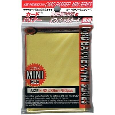 Kmc 50 Small Size Yugioh Card Barrier Sleeves Deck Protectors - Mini Gold