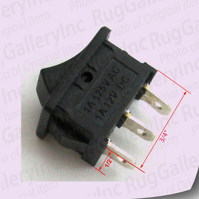 """Rocker Switch 3-Pins 1A 125VAC 12VDC 1-Pole 2-Terminal 3/4""""x1/2"""" Opening ON/OFF"""