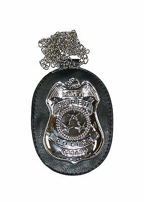 Super Police Badge With Neck Chain Dectective Badge Neck Chain Badge 67219