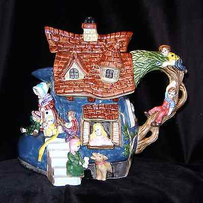 Fairy & Fairy Tales Collection Old Woman in a Shoe Tea Pot Limited Edition