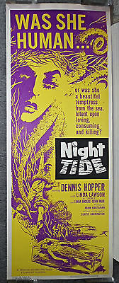 NIGHT TIDE 14x36 DENNIS HOPPER/CURTIS HARRINGTON original ROLLED movie poster