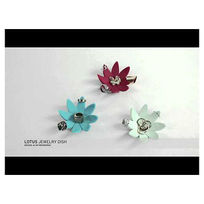 Umbra Lotus Ring Jewelry Holder Dish- Choice of watermelon, mint green or teal