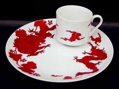 Fitz & Floyd TEMPLE DRAGON Snack Plate & Cup 129799