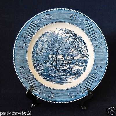 "Currier And Ives Royal Ironstone China Usa 10"" Dinner Plate ""The Old Grist Mill"