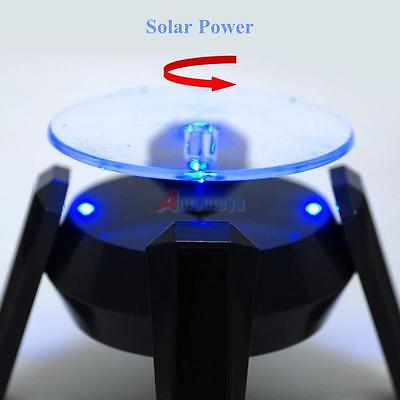 360° Solar Power Rotating Display Stand Platform Plate for Jewelry Watch Show