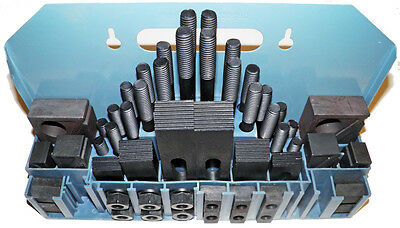 52pc Clamping Set in Metal Rack for 5/8 T-Slots, 1/2-13 Studs Sowa STM #333-550