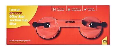 2x Heavy Duty Dual Suction Cup Pad Glass Lifting Metal Door Window Mirror New