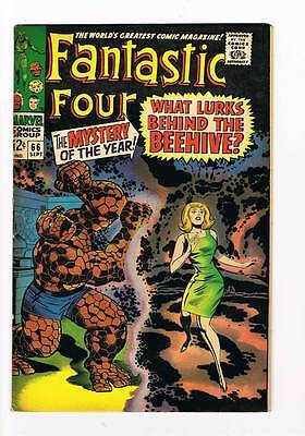 Fantastic Four # 66 Behind the Beehive? 2nd Warlock grade 5.0 scarce hot book !!