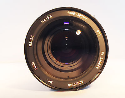 COMPUTAR Zoom Lens MC 60-300 mm 1:4-5.6 with C mount adapter