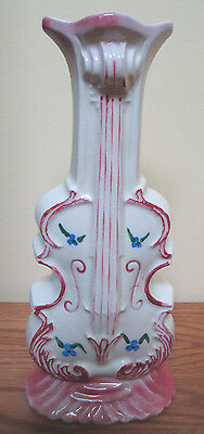 Vintage LePere Pottery Ceramic Wall Pocket Vase Hand Painted & Cello Shaped