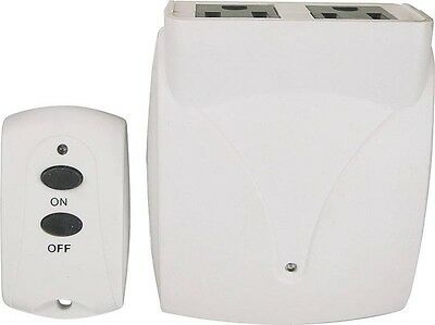 New Powerzone 9163692 2 Outlet Indoor Remote Control Switch Wireless Transmitter