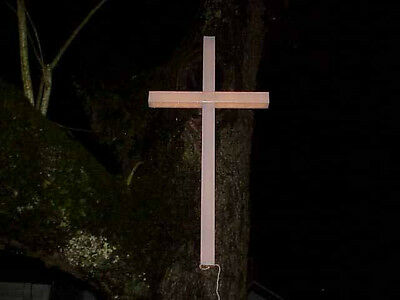 One, (1), NEW 4'X 2' Inspirational Lighted Holiday Cross Indoors Outdoors NIB l