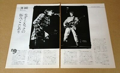 1984 The Cars 2pg 1 photo on stage JAPAN mag article Ric Ocasek Ben Orr / c007m