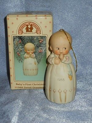 Memories of Yesterday - 520373 -MIB- Ornament - BABY'S FIRST CHRISTMAS 1988