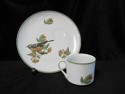 Fitz & Floyd Collector's Birds Snack Set 1975 Robin In Excellent Condition