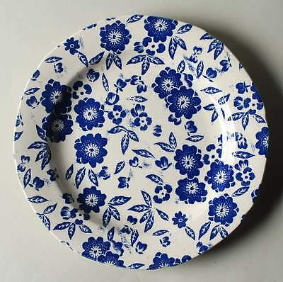 Staffordshire CALICO BLUE (BURLEIGH STAMP) Accent Dinner Plate 10023783