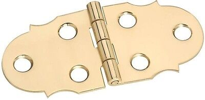 """NEW STANLEY 803410 PK 2 BRIGHT BRASS 1 1//8/"""" DECORATIVE CABINET HINGES 6793608"""