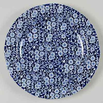 Staffordshire CALICO BLUE (BURLEIGH STAMP) Dinner Plate 5970812