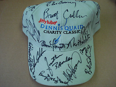 Celebrity & Athlete Signed Hat misc. sports/Celeb stars Dennis Quaid Charity Hat