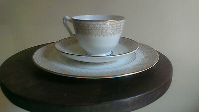 Crown Staffordshire Bone China England Classic Cup Saucer Plate Trio Sets