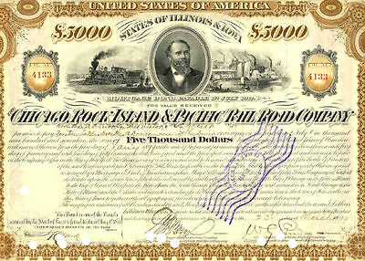 1899 Chicago - Rock Island & Pacific Railroad Co. Bond