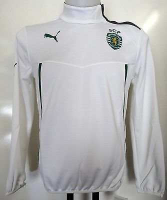 Sporting Lisbon Boys 1/2 Zip Training Jacket By Puma Size 6/7 Years Brand New