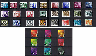 Decimal Postage Dues Mint or Used. Choice of stamps or sets.