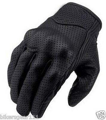 New Short Style Premium A Grade Perforated Summer Motorcycle Gloves
