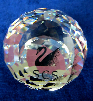 Swarovski Scs Swan Paperweight (Black) Limited Edition Brand New In Box Retired