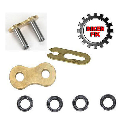 Replacement Spring Clip Link For 530 X-Ring Gold Chain Fits Most Japanese Chains