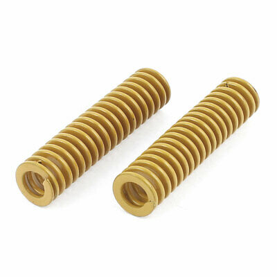2Pcs Lighter Load Yellow Spiral Stamping Compression Die Spring 10x40mm