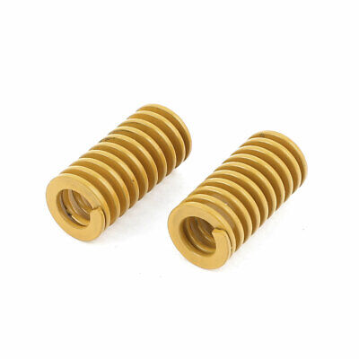 2Pcs Lighter Load Yellow Spiral Stamping Compression Die Spring 10x20mm
