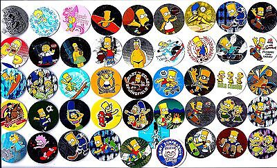 POGS - H-SIMP46 008 Lot de 46 Pogs THE SIMPSON Neufs