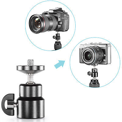 "Neewer Mini Metal 360 Degree Swivel Camera Tripod Ballhead with 1/4"" Screw"