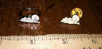 VINTAGE *CASPER THE GHOST* PIN FREE SHIPPING MUST SEE NEW CONDITION