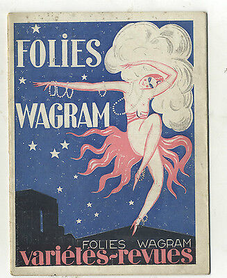 Programme  Theatre  Folies Wagram Paris  L'orloff